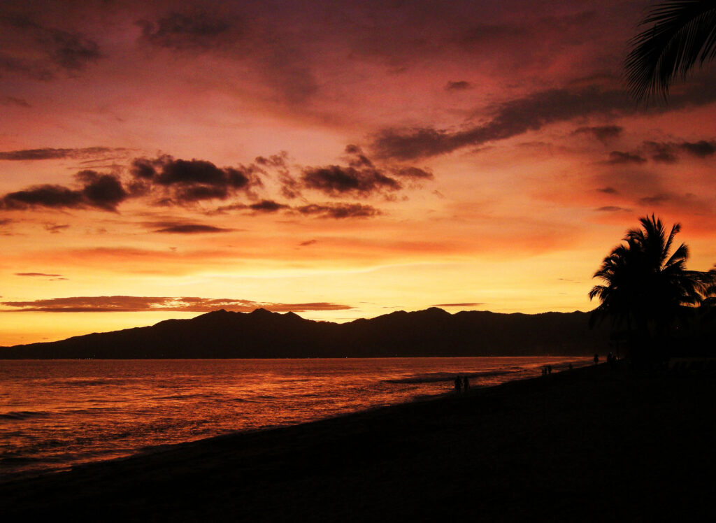 Beautiful sunset over Mexico's Riviera Nayarit