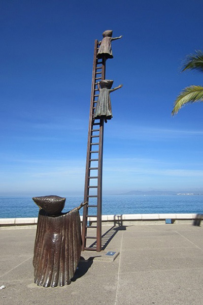 El malecon, boardwalk in puerto vallarta